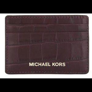 Michael Kors Money Pieces Crocodile-effect Leather